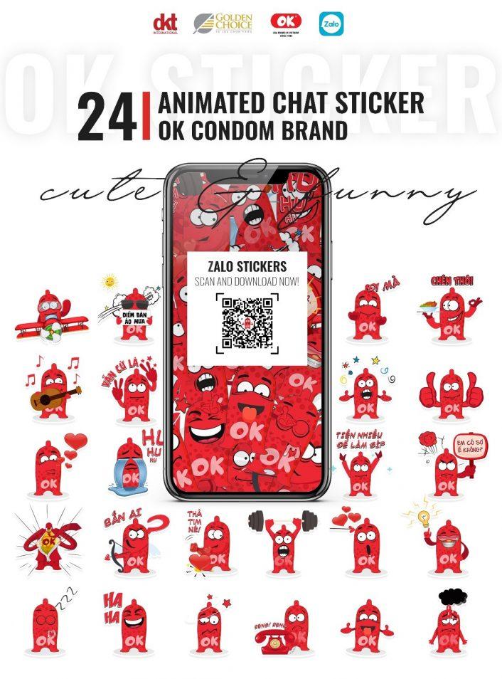 Sticker Zalo Bao cao su OK