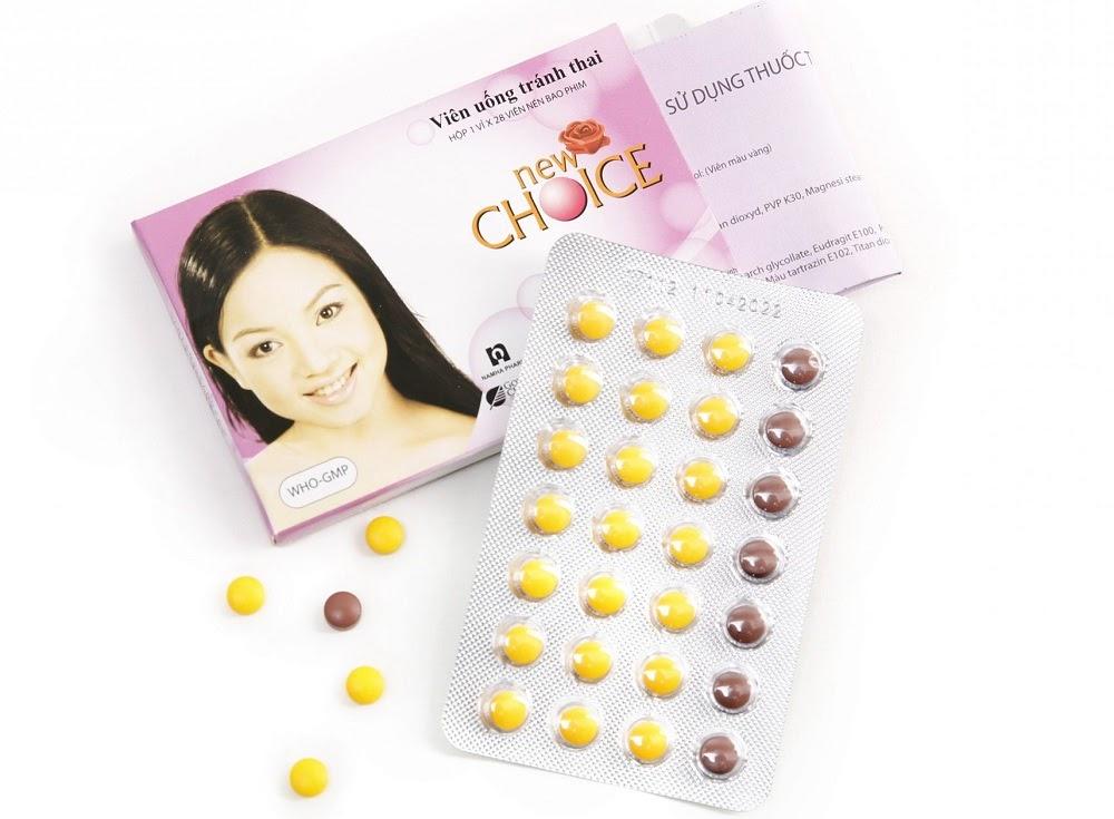 Vỉ thuốc tránh thai hàng ngày New Choice 28 viên
