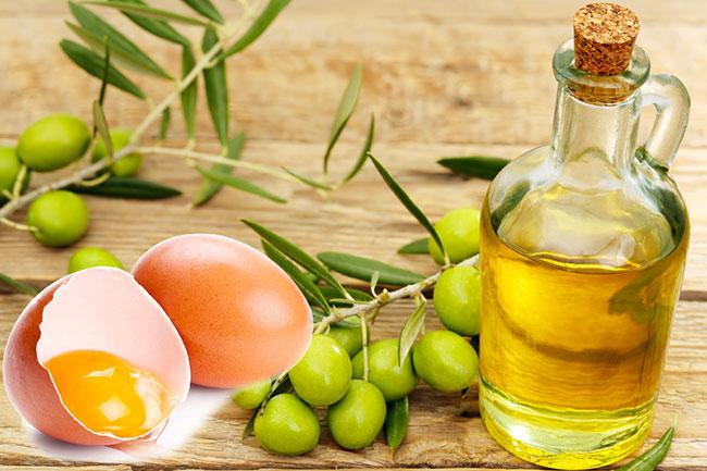 Việc kết hợp dầu oliu cùng lòng trắng trứng trị rạn da sẽ giúp cho máu lưu thông tốt hơn, các vết rạn dần mờ đi
