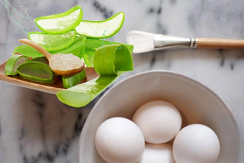 Trị rạn da bằng nha đam và lòng trắng trứng có thể giúp da được cấp ẩm tốt hơn, hỗ trợ kháng viêm và phục hồi những phần da hư tổn.