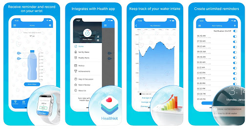 App Drink Water Reminder + Tracker